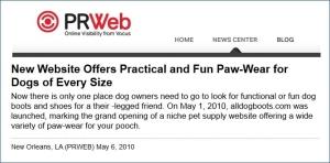 alldogboots press release
