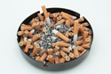 cigarettes tobacco nicotine in ashtray