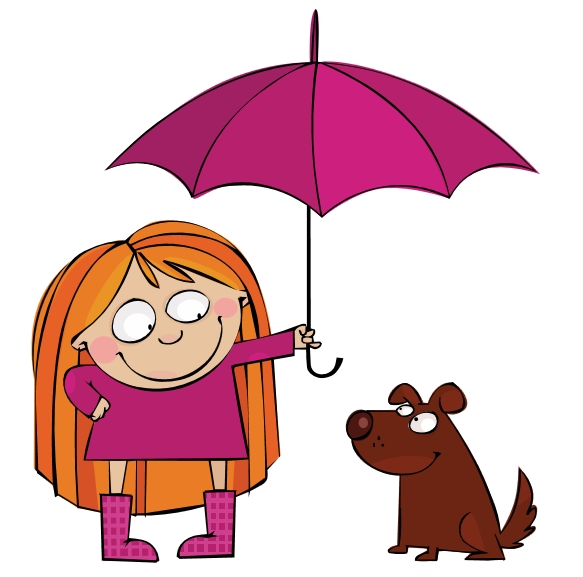 care for dog paws in the rain