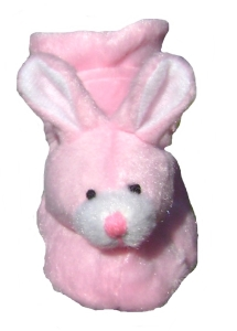 pink bunny dog slippers